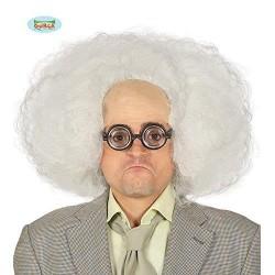 Parrucca scienziato pazzo bianca