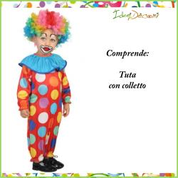 Costume da  pagliaccio neonato clown vestito bambino