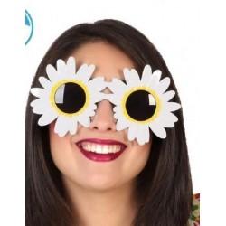Occhiali con fiori da hippie figlii dei fiori