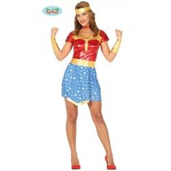 Costume super girl donna super eroe