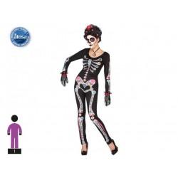 Costume scheletro messicano donna