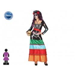 Costume scheletro messicana donna