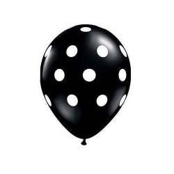 Palloncini a Pois nero 25 pz compleanno festa a tema
