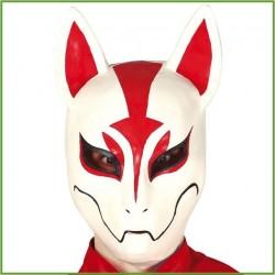 Maschera volpe bianca e rossa in latice fortnit costume