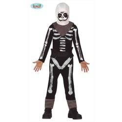 Costume scheletro soldato bambino Fortn