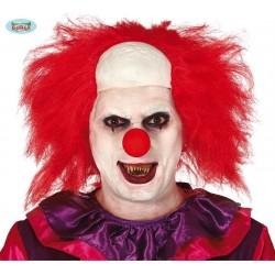 Parrucca pagliaccio clown rossa