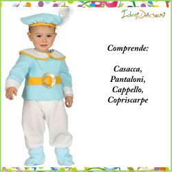 Costume da principe azzurro neonato bambino vestito celeste principino