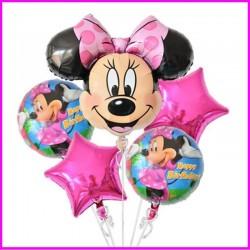 Palloncini Minnie cm 70 kit 5 pezzi festa compleanno battesimo
