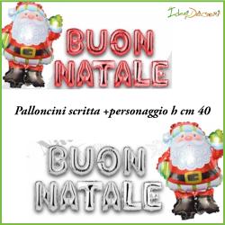 Palloncini Babbo Natale con scritta in mylar addobbo