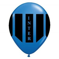 Palloncini inter nero azzurro 25 pz in latice aria o elio